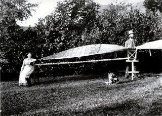 Ornitoptéra. Kraus a slečna Gabrielová.