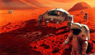 Cesta na Mars je stále ještě dalekým cílem. Foto: NASA.