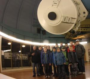 Astronomický kroužek Pardubice pod Ondřejovským dalekohledem